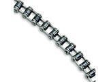 Chisel Stainless Steel Black Plating Magnetic Links Bracelet
