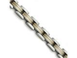 Chisel Titanium/14k Inlay Polished/matte Bracelet style: TBB1578