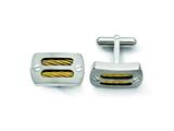 Chisel Titanium Gold Accent Cuff Links style: TBC106