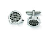 Chisel Titanium and Steel Wire Cuff Links style: TBC113