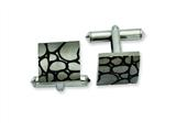Chisel Titanium Black Enameled Cuff Links style: TBC114