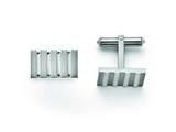 Chisel Titanium Polished And Brushed Stripes Cuff Links style: TBC120
