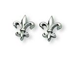 Chisel Titanium Fleur de Lis Earrings style: TBE100