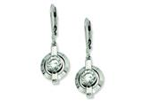 Chisel Titanium CZ Leverback Earrings style: TBE101