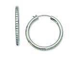 Chisel Titanium CZ Hoop Earrings style: TBE102