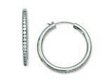 Chisel Titanium CZ Hoop Earrings style: TBE102