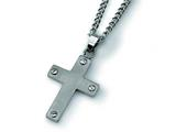 Chisel Titanium Cross Necklace - 22 inches