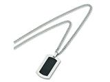 Chisel Titanium Carbon Fiber Necklace - 24 inches