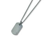 Chisel Titanium Diamond Accent Necklace - 22 inches style: TBN115