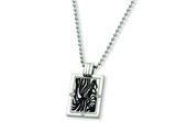 Chisel Titanium with Black Enamel and Diamond Necklace - 24 inches