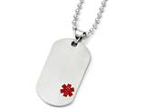 Chisel Titanium Medical Jewelry Dog Tag Pendant Necklace style: TBN12322