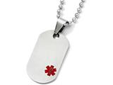 Chisel Titanium Medical Jewelry Dog Tag Pendant Necklace style: TBN12420