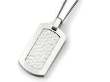Chisel Titanium Hammered Pendant Necklace style: TBN12522