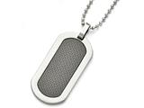 Chisel Titanium Polished Black Carbon Fiber Dog Tag Necklace style: TBN15724