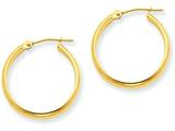 14k Round Tube Hoop Earrings style: TC139