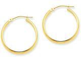 14k Round Tube Hoop Earrings style: TC140