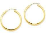 14k Round Tube Hoop Earrings style: TC142