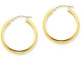 14k Round Tube Hoop Earrings style: TC143