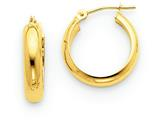 14k Round Tube Hoop Earrings style: TC145