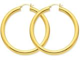14k Polished 5mm Tube Hoop Earrings style: TC193