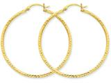 14k Diamond-cut 2mm Round Tube Hoop Earrings style: TC237