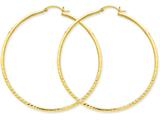 14k Bright-cut 2mm Round Tube Hoop Earrings style: TC239