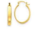 14k Lightweight Oval Hoop Earrings style: TC657