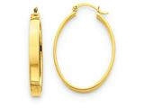 14k Lightweight Oval Hoop Earrings style: TC659