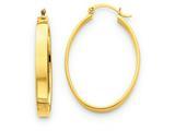 14k Lightweight Oval Hoop Earrings style: TC659