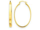 14k Lightweight Oval Hoop Earrings style: TC660