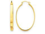 14k Lightweight Oval Hoop Earrings style: TC660