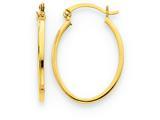 14k Lightweight Fancy Oval Hoop Earrings style: TC661