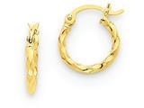 14k Twist Polished Hoop Earring style: TC667