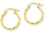 14k Twist Polished Hoop Earring style: TC668
