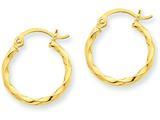 14k Twist Polished Hoop Earring style: TC668