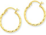 14k Twist Polished Hoop Earring style: TC669