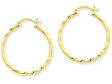 14k Twist Polished Hoop Earring style: TC670