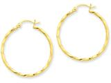 14k Twist Polished Hoop Earring style: TC671