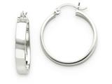 14k White Gold Polished Hoop Earring style: TE557