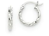 14k White Gold Twist Polished Hoop Earring style: TE563