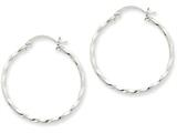 14k White Gold Twist Polished Hoop Earring style: TE567