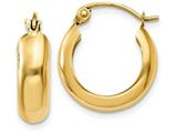 14k Polished 4.75mm Round Hoop Earrings style: TF140