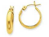14k Polished 3.5mm Hoop Earrings style: TF150