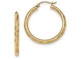 14k Textured Hoop Earrings style: TF556