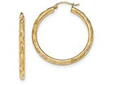 14k Textured Hoop Earrings style: TF557