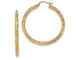 14k Textured Hoop Earrings style: TF558