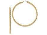 14k Textured Hoop Earrings style: TF563