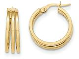 14k Polished Post Hoop Earring style: TF565