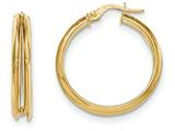 14k Polished Post Hoop Earring style: TF566