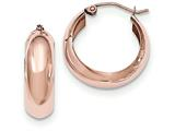 14k Rose Gold Hoop Earrings style: TF571